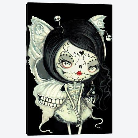 Butterfly Skeleton Canvas Print #KAK48} by Kelly Ann Kost Canvas Wall Art