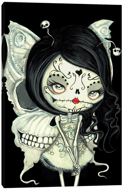 Butterfly Skeleton Canvas Art Print