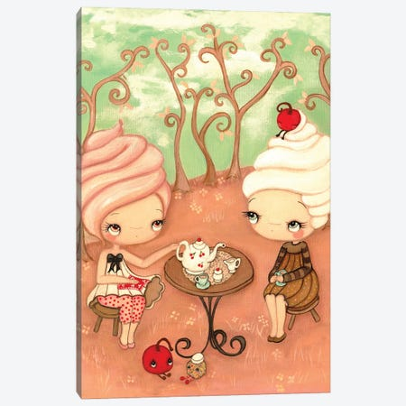 Tea and Cakes Canvas Print #KAK52} by Kelly Ann Kost Canvas Print