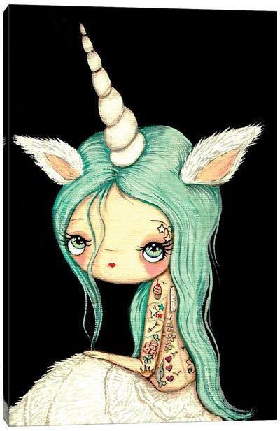 Tattooed Unicorn Canvas Art Print