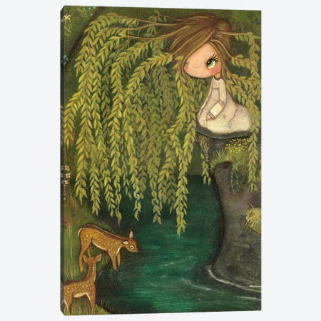 Weeping Willow Canvas Print #KAK58} by Kelly Ann Kost Canvas Art Print