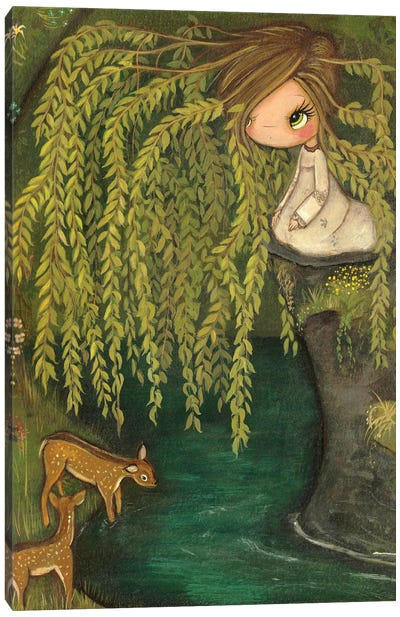 Weeping Willow Canvas Art Print