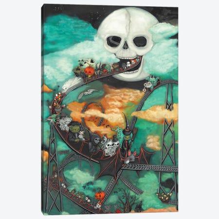 Halloween Moon Canvas Print #KAK60} by Kelly Ann Kost Canvas Art