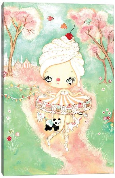 Cupcake Carousel Canvas Art Print