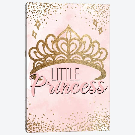 Little Princess Pink I Canvas Print #KAL1058} by Kimberly Allen Canvas Print