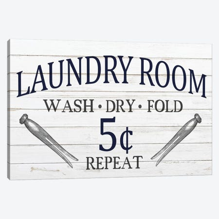 Laundry Room Canvas Print #KAL105} by Kimberly Allen Canvas Art