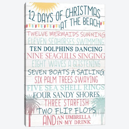 12 Days Of Christmas Canvas Print #KAL107} by Kimberly Allen Canvas Art