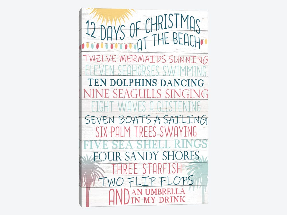 12 Days Of Christmas by Kimberly Allen 1-piece Art Print
