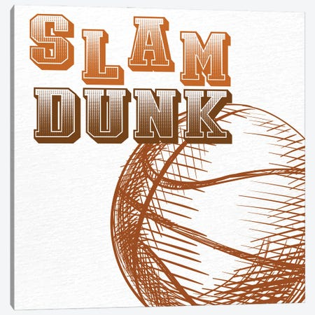 Slam Dunk Canvas Print #KAL1095} by Kimberly Allen Canvas Art