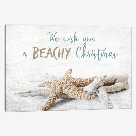 Beachy Christmas Canvas Print #KAL109} by Kimberly Allen Canvas Print