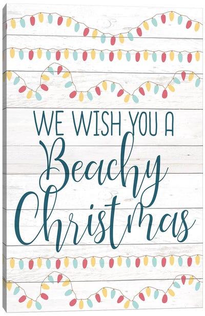 Beachy Christmas Canvas Art Print
