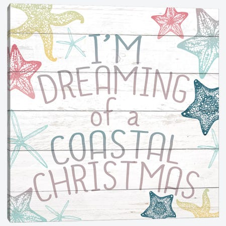Coastal Christmas Canvas Print #KAL113} by Kimberly Allen Canvas Art