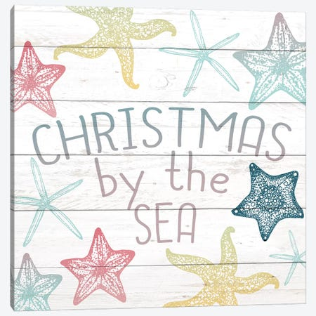 Christmas By The Sea Canvas Print #KAL115} by Kimberly Allen Art Print