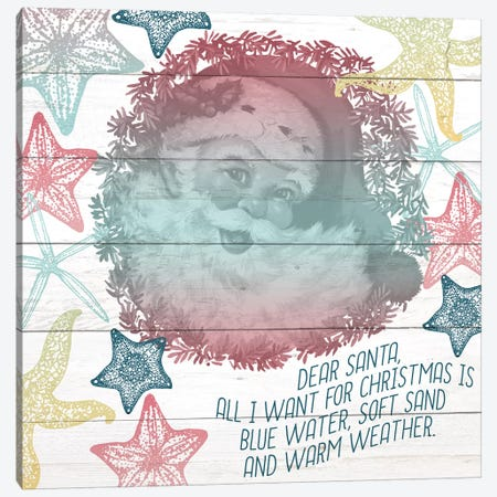 Dear Santa Canvas Print #KAL117} by Kimberly Allen Canvas Art Print
