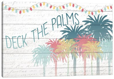 Deck The Palms Canvas Art Print