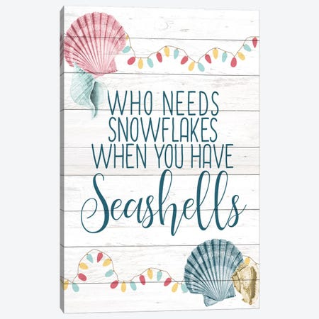 Have Seashells 3-Piece Canvas #KAL126} by Kimberly Allen Canvas Wall Art