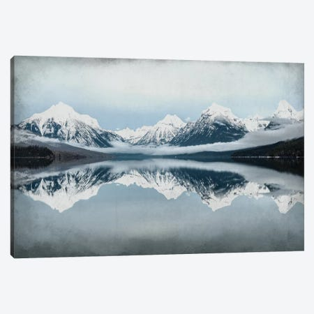 A Mountain Reflects Canvas Print #KAL12} by Kimberly Allen Canvas Artwork
