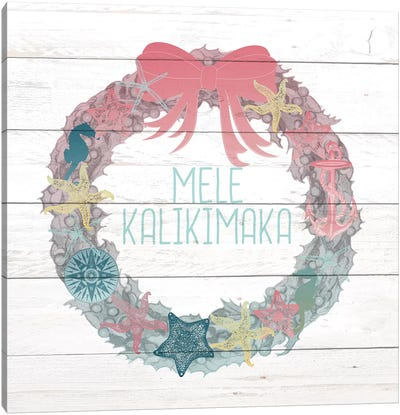 Mele Kalikimaka Canvas Art Print