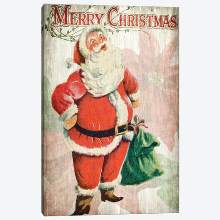 Merry Christmas Santa Canvas Print #KAL135} by Kimberly Allen Canvas Art Print