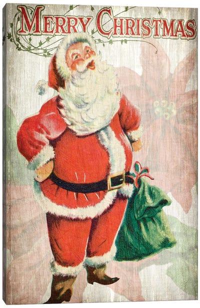 Merry Christmas Santa Canvas Art Print