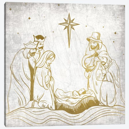 Nativity Gold Canvas Print #KAL137} by Kimberly Allen Canvas Print
