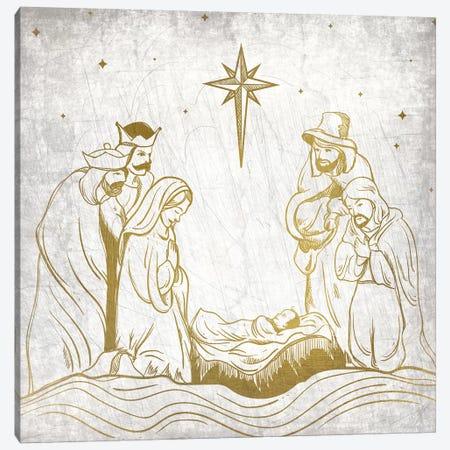 Nativity Gold Canvas Print #KAL137} by Kimberly Allen Canvas Print