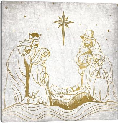 Nativity Gold Canvas Art Print
