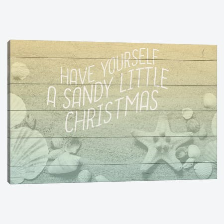 Sandy Christmas Canvas Print #KAL140} by Kimberly Allen Art Print