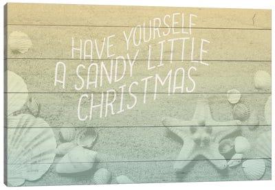 Sandy Christmas Canvas Art Print