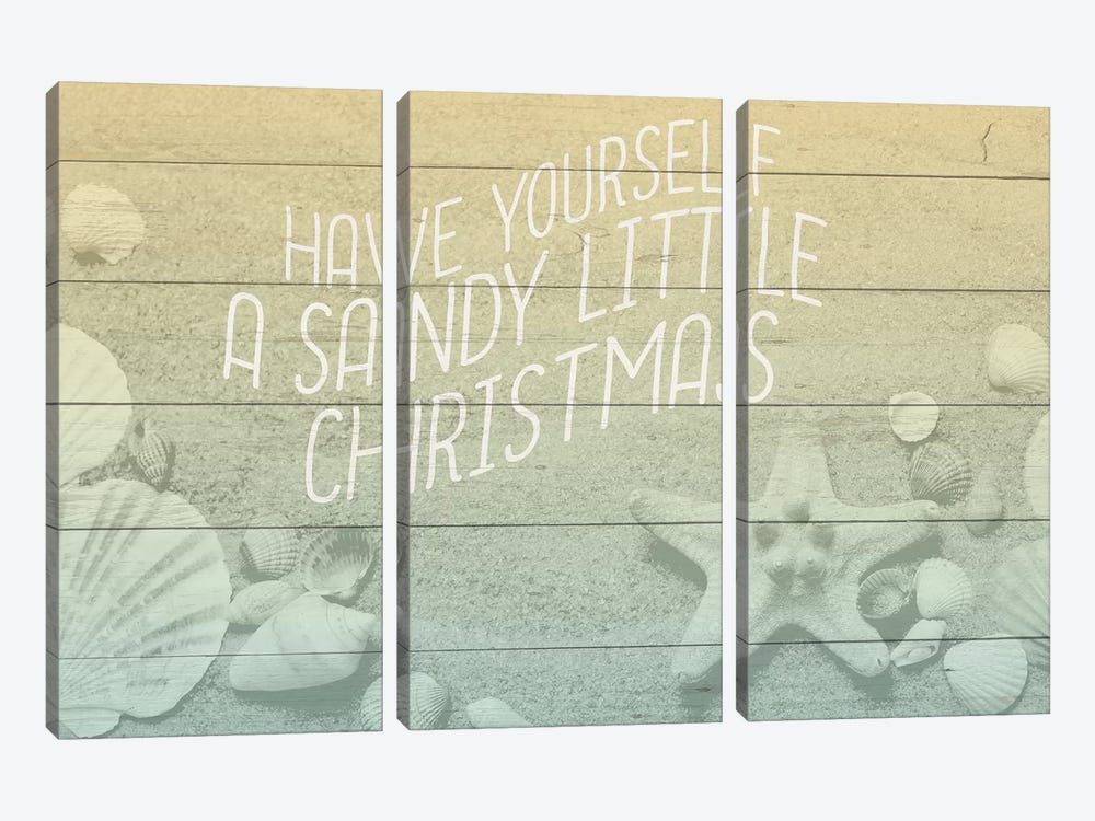 Sandy Christmas by Kimberly Allen 3-piece Canvas Artwork