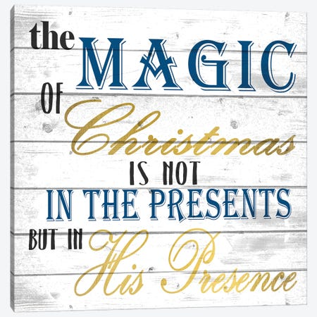 The Magic Of Christmas Canvas Print #KAL144} by Kimberly Allen Canvas Art