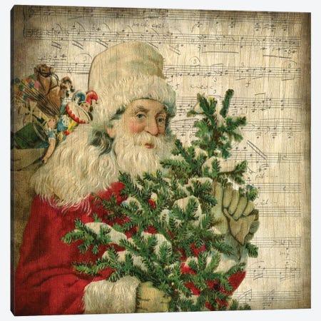 Vintage Santa II Canvas Print #KAL147} by Kimberly Allen Canvas Artwork
