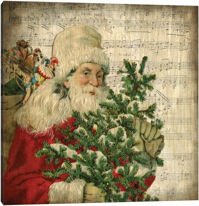 Vintage Santa II Canvas Art Print