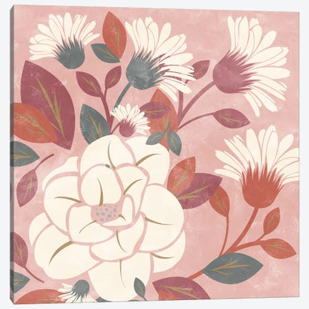 Morning Floral Canvas Print #KAL165} by Kimberly Allen Canvas Artwork