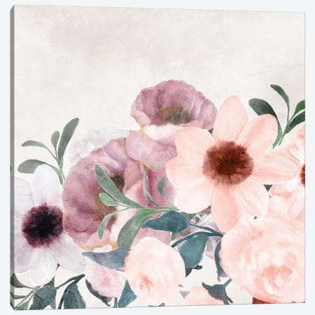 Painted Floral Canvas Print #KAL168} by Kimberly Allen Canvas Print