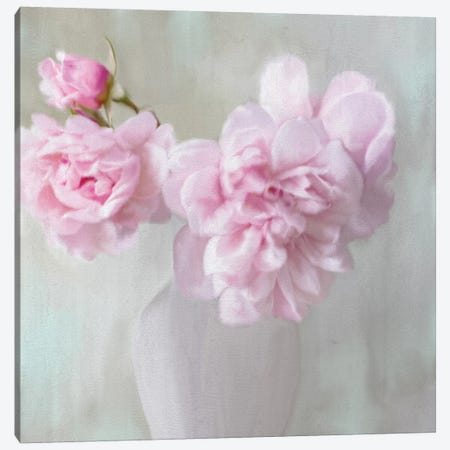 Vase Of Pink Canvas Print #KAL175} by Kimberly Allen Canvas Print