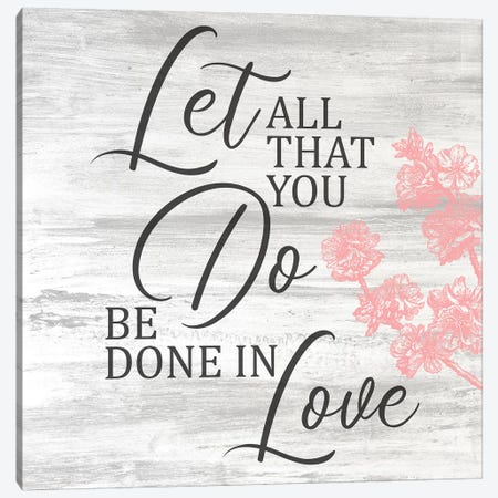 Be Done In Love Square Canvas Print #KAL181} by Kimberly Allen Canvas Print