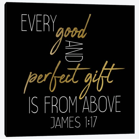 Every Good And Perfect Black Square Canvas Print #KAL185} by Kimberly Allen Canvas Artwork