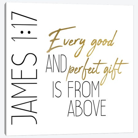 Every Good And Perfect Square Canvas Print #KAL187} by Kimberly Allen Canvas Wall Art