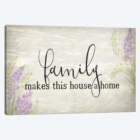 Family Makes Canvas Print #KAL188} by Kimberly Allen Canvas Print