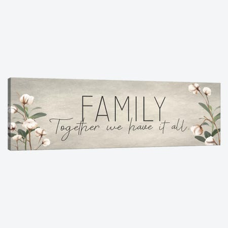 Family Together Cotton Canvas Print #KAL189} by Kimberly Allen Canvas Art Print