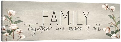 Family Together Cotton Canvas Art Print