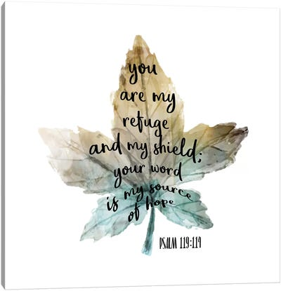 Psalm Leaf I Canvas Art Print