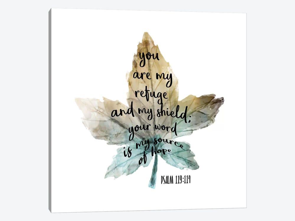 Psalm Leaf I by Kimberly Allen 1-piece Canvas Wall Art