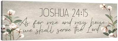 Joshua 24:15 Cotton Canvas Art Print