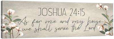 Joshua 24:15 Cotton Canvas Art Print