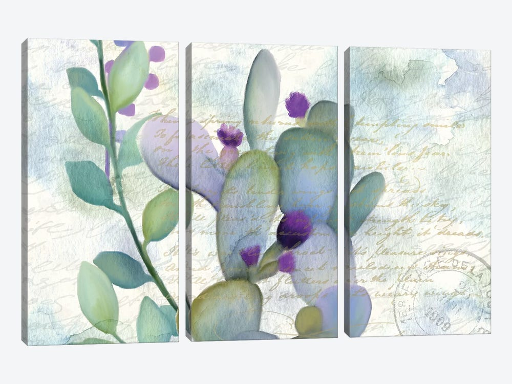 Watercolor Floral I by Kimberly Allen 3-piece Canvas Art