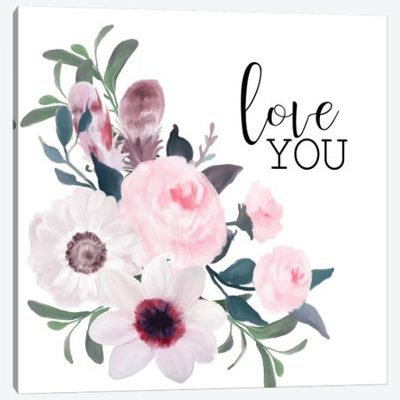 Love You Canvas Print #KAL210} by Kimberly Allen Canvas Art Print