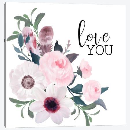Love You Canvas Print #KAL210} by Kimberly Allen Canvas Art Print