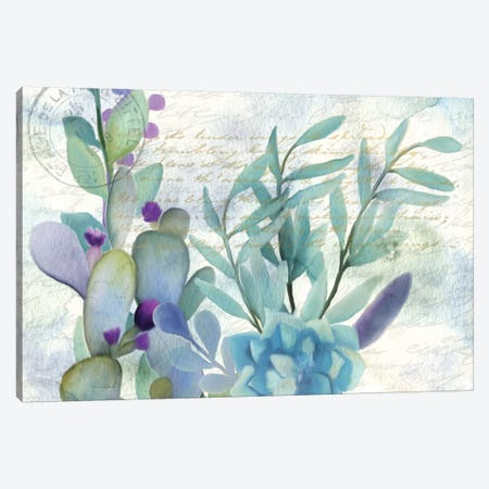 Watercolor Floral II 3-Piece Canvas #KAL21} by Kimberly Allen Canvas Art Print